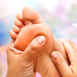 Fuss-Reflexzonen-Massage